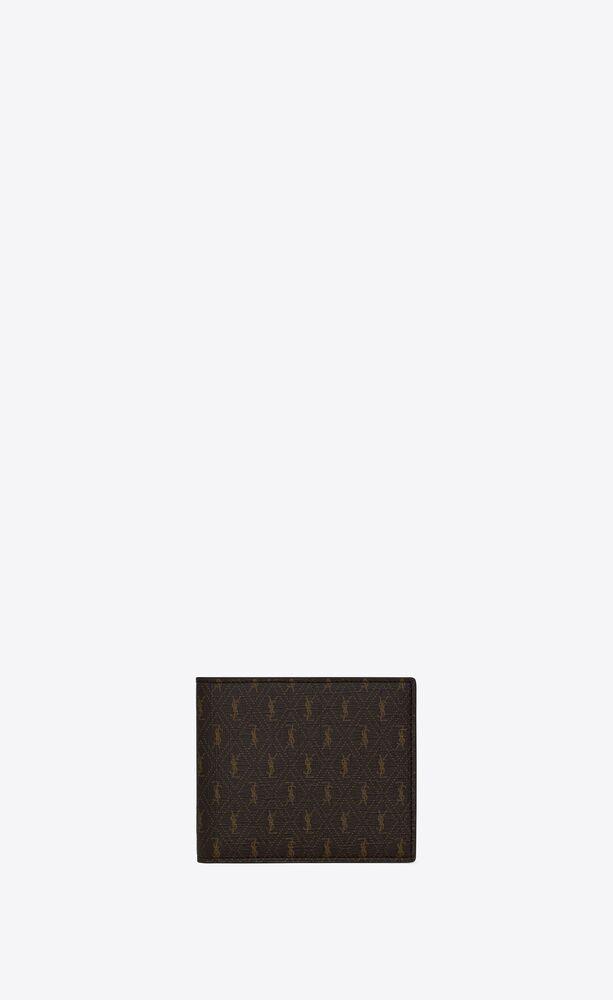 le monogramme east/west wallet with coin pouch in saint laurent monogram canvas