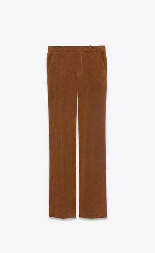 low-waisted pants in corduroy