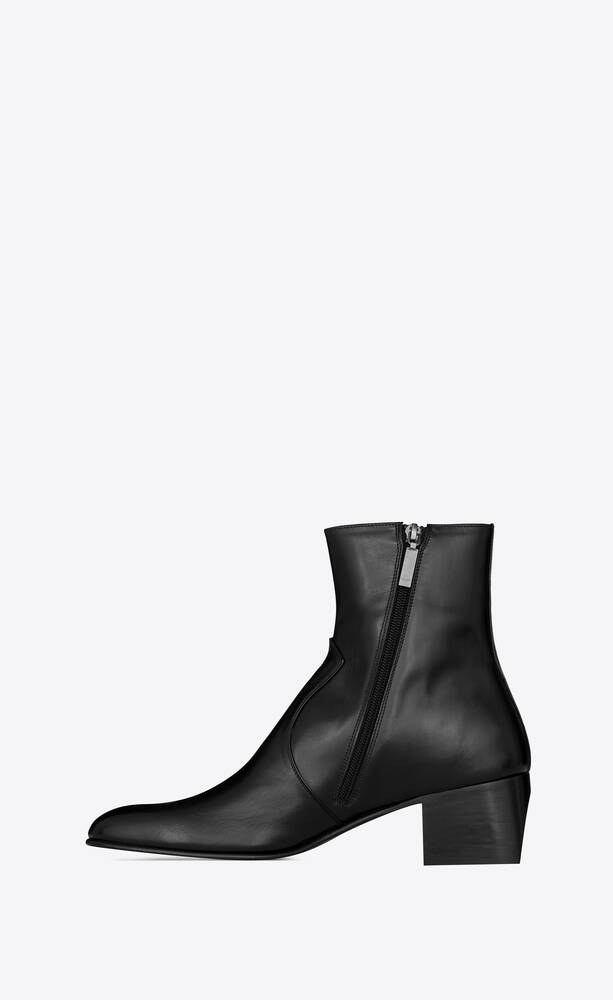 james western zipped boots in smooth leather