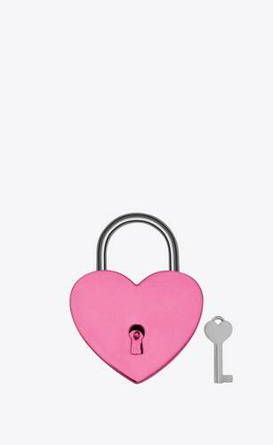 heart-shaped padlock