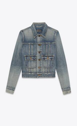 40s jacket in dirty sandy blue denim