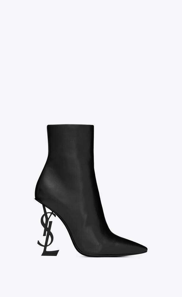 opyum ankle boots in leather with black heel