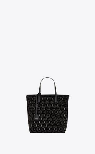 le monogramme saint laurent n/s toy-shopper aus wildleder mit nieten