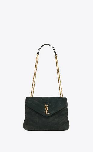 loulou small bag in y-quilted corduroy suede