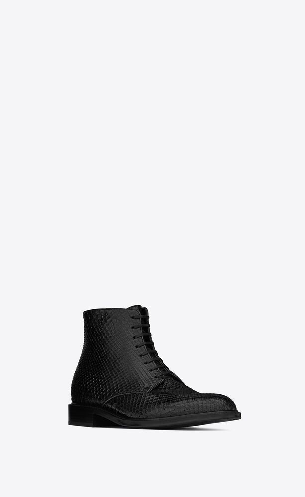 army laced boots in python