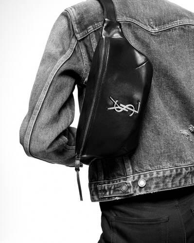 classic monogram belt bag in grain de poudre embossed leather