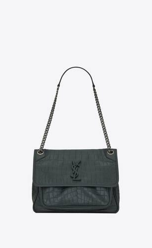 niki medium in crocodile-embossed leather