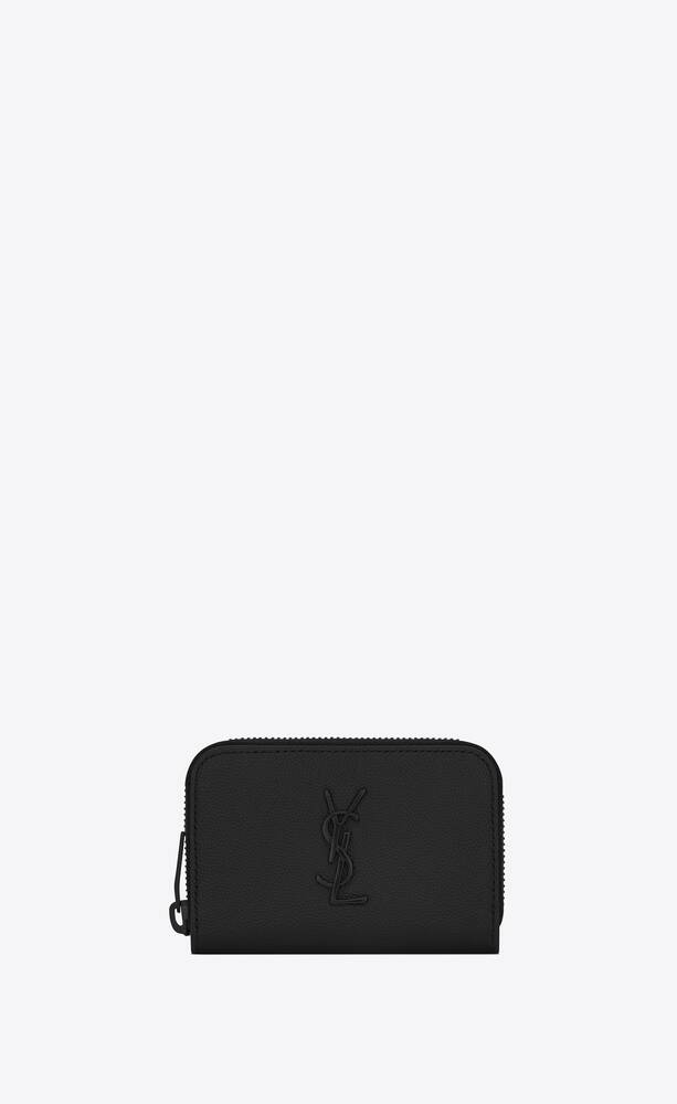 monogram wallet in grain de poudre embossed leather
