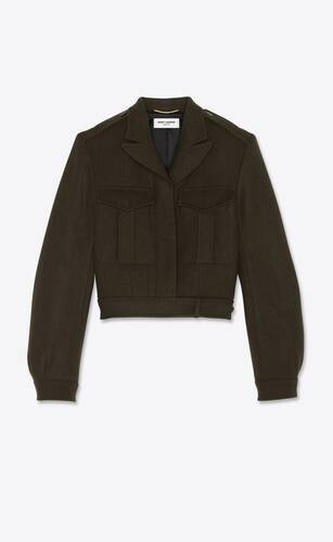 army jacket in wool gabardine