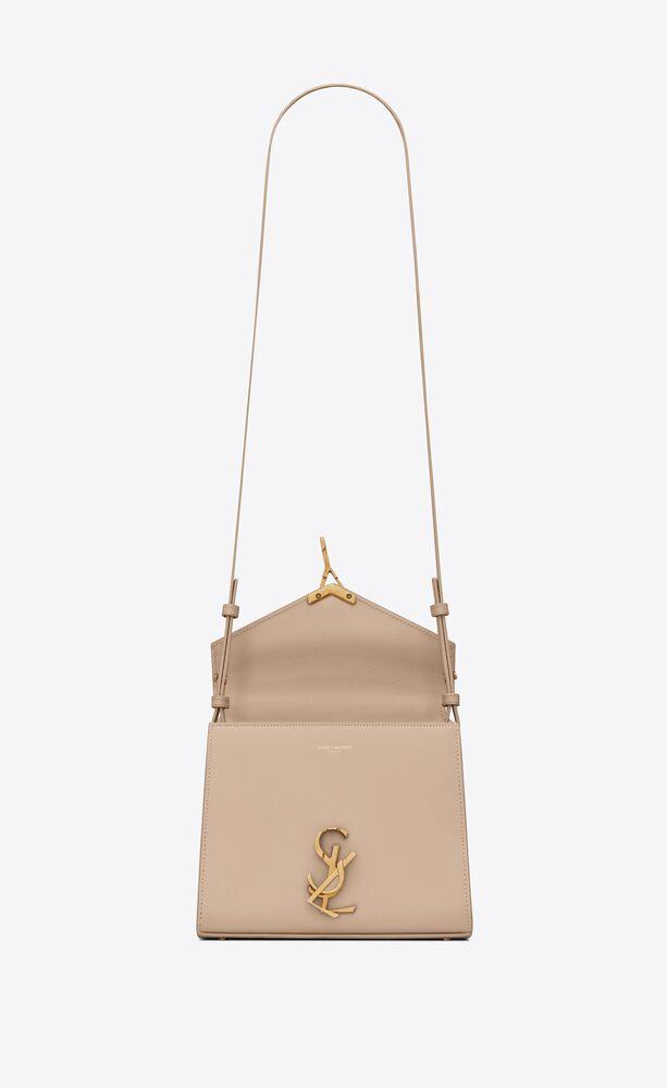 cassandra mini top handle bag in grain de poudre embossed leather