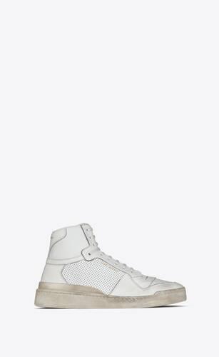 sl24 sneakers en cuir effet vieilli
