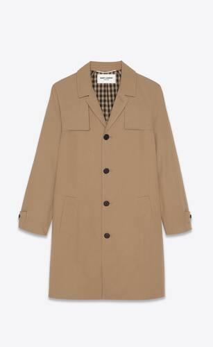 coat in nylon and cotton