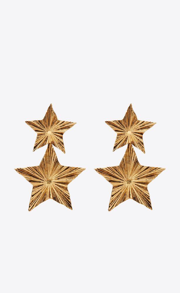 stars & love strahlende sternanhänger-ohrringe aus metall