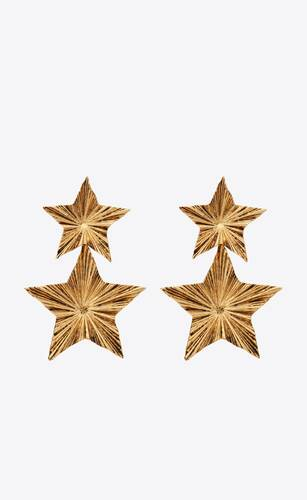 stars & love radiating star pendant earrings in metal