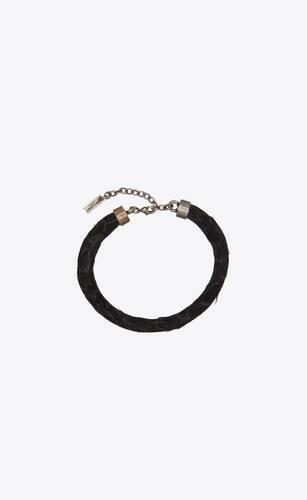 torc bracelet in feathers and metal
