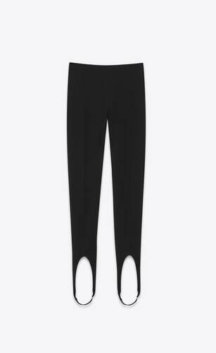 hoch geschnittene steg-leggings aus mattem, kompaktem jersey