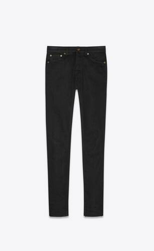 skinny-fit jeans in used black stretch denim