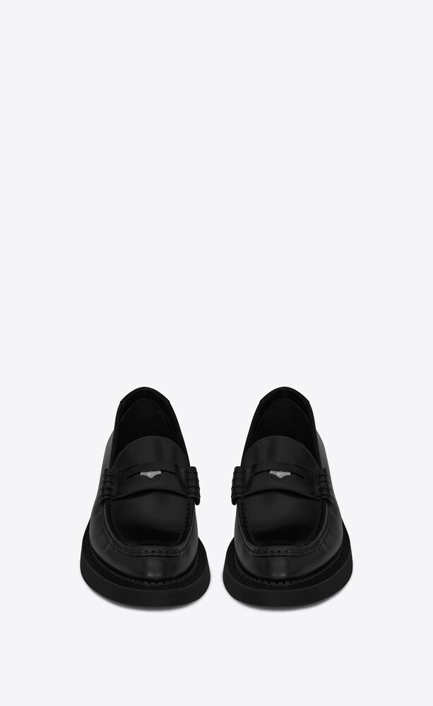 teddy penny loafer in smooth leather
