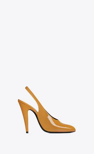 venus slingback-pumps aus lackleder
