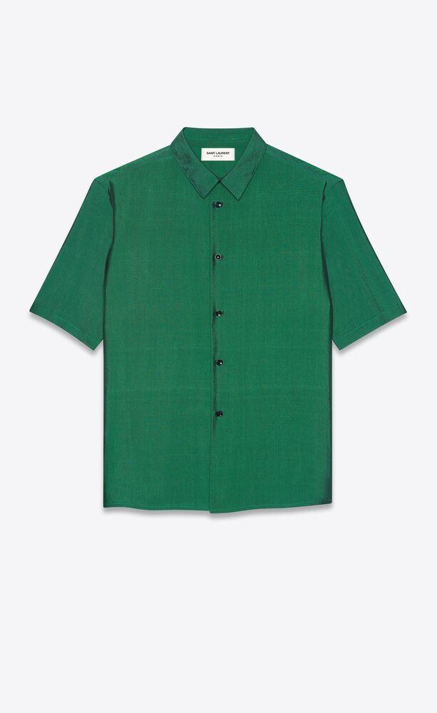 shirt in iridescent silk shantung