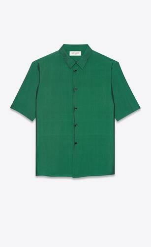camisa de seda shantung iridiscente
