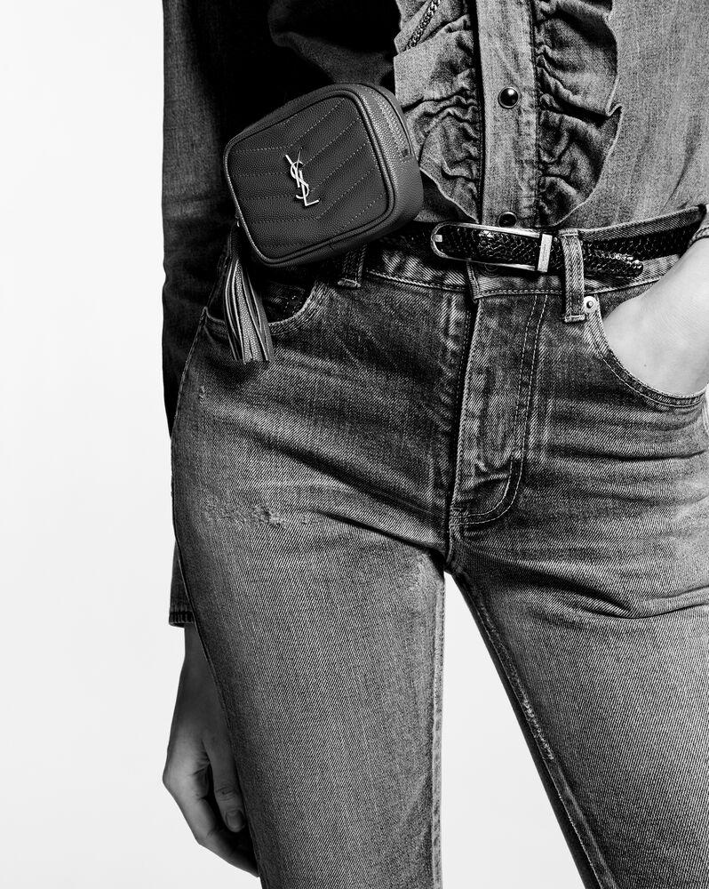 lou babytasche aus gestepptem leder mit grain-de-poudre-prägung