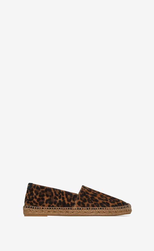 espadrilles en suède imprimé léopard