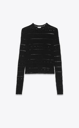suéter de croché de algodón