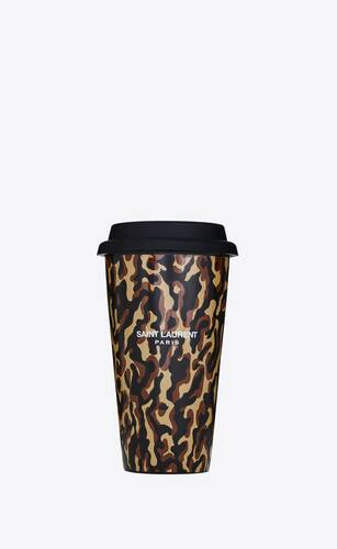 camouflage leopard print coffee mug in ceramic