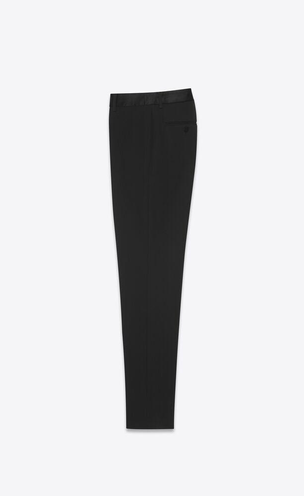 straight-leg tuxedo pants in grain de poudre