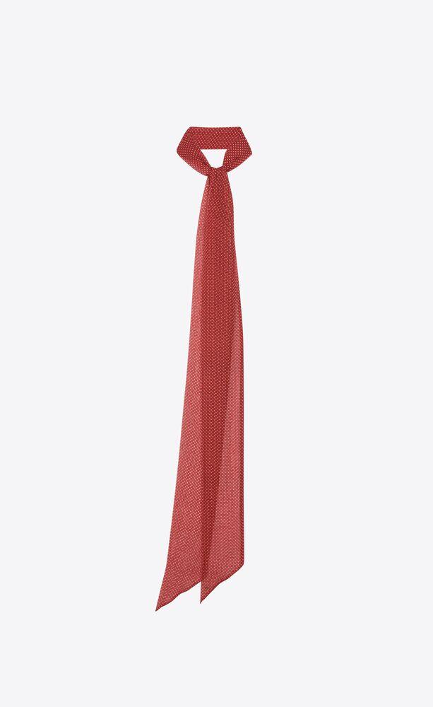 dotted lavallière scarf in silk muslin