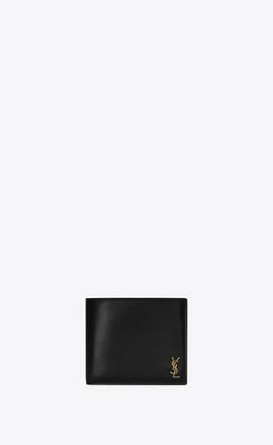 portafogli monogram east/west piccolo in pelle lucida con portamonete
