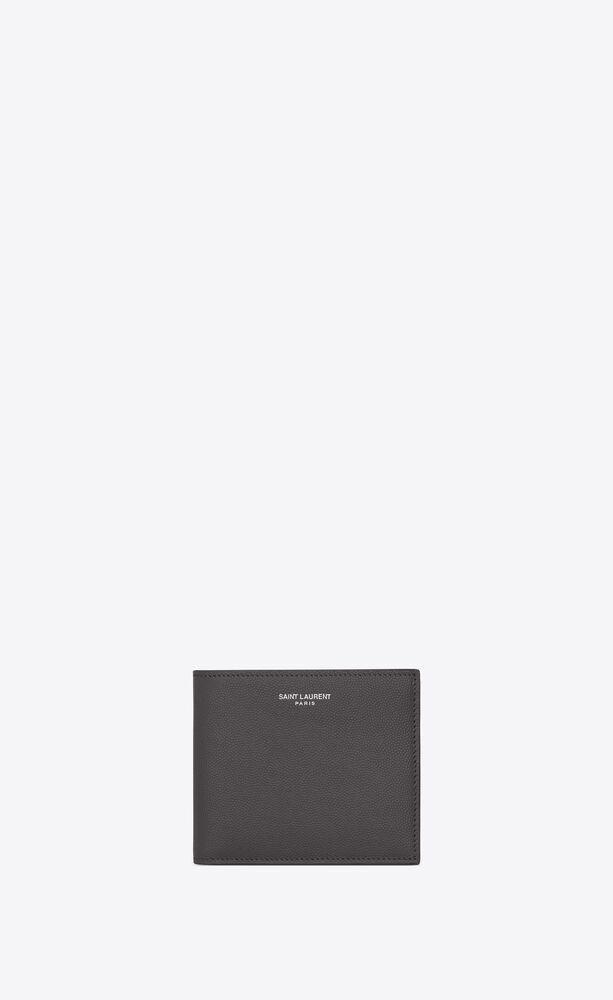 east/west wallet in grain de poudre-embossed leather