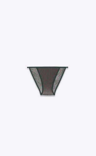 monogram panties in tulle jersey