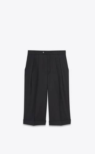 tailored bermuda shorts in wool gabardine