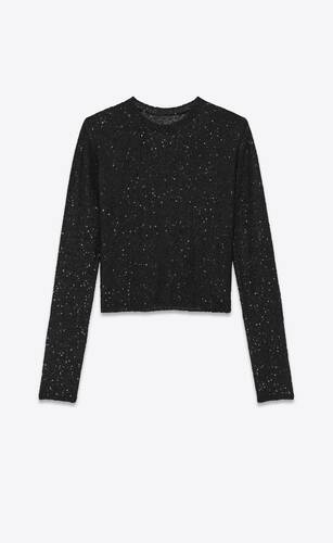 knitted sequin sweater