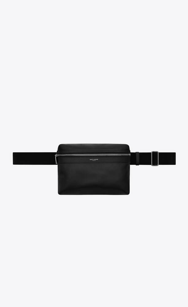 city camera bag in matte leather