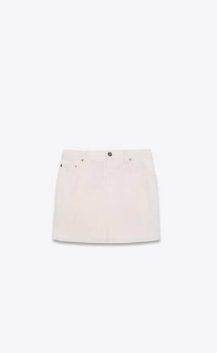 mini skirt in soft light denim