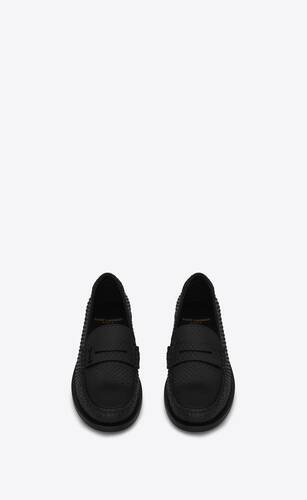 le loafer monogram penny slippers in python