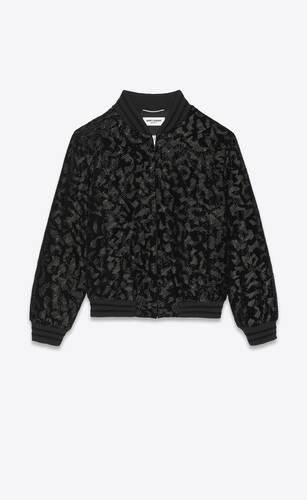 embroidered teddy jacket in velvet
