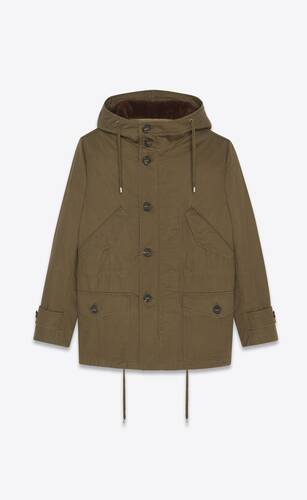 military parka in shearling