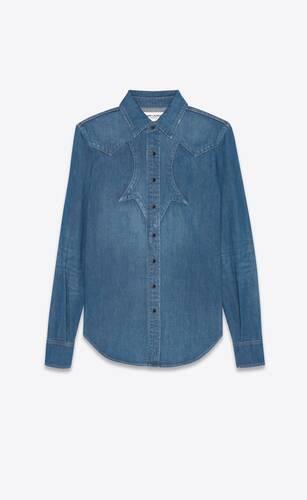 western shirt in francoise blue denim